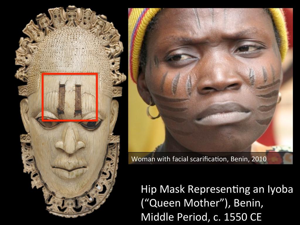 Hip Mask Represen=ng an Iyoba  (...
