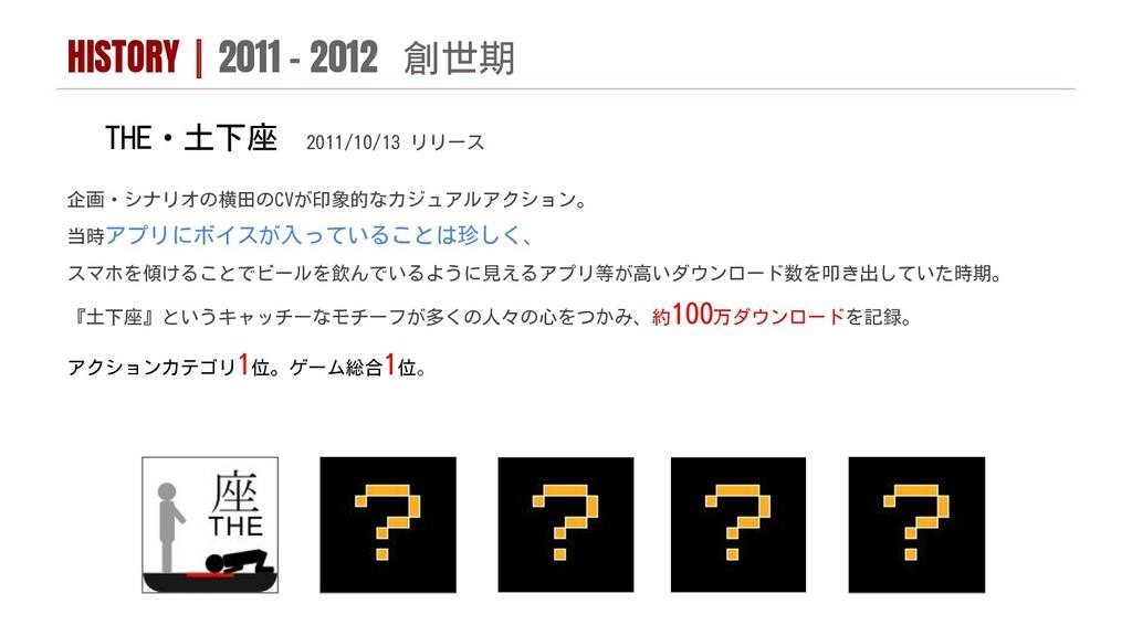 THE・土下座 2011/10/13 リリース 企画・シナリオの横田のCVが印象的なカジュアル...