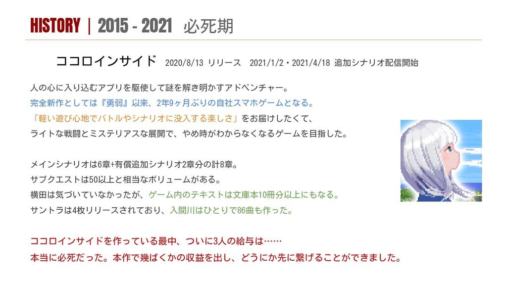 ココロインサイド 2020/8/13 リリース 2021/1/2・2021/4/18 追加シナ...