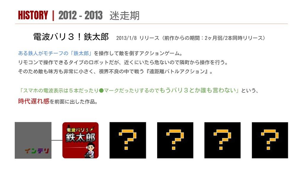 電波バリ3!鉄太郎 2013/1/8 リリース(前作からの期間:2ヶ月弱/2本同時リリース) ...
