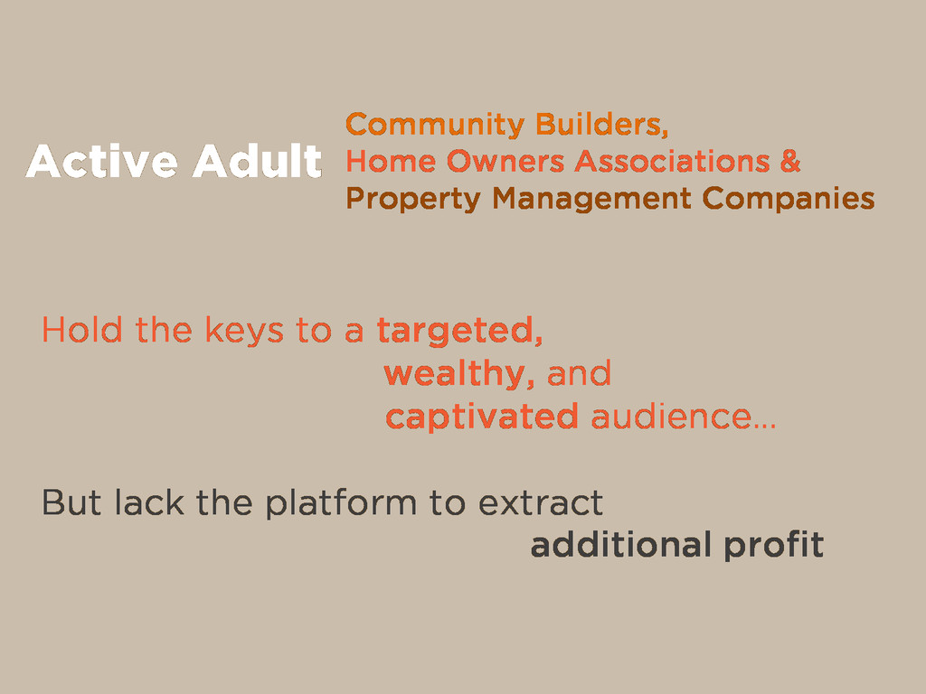Community Builders, Home Owners Associations & ...