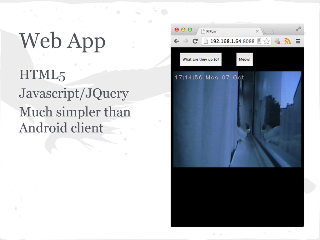 Web App HTML5 Javascript/JQuery Much simpler th...