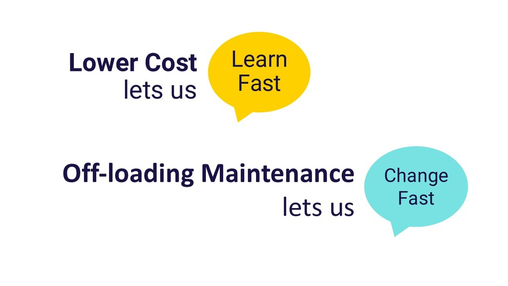 Lower Cost lets us Change Fast Learn Fast Off-l...