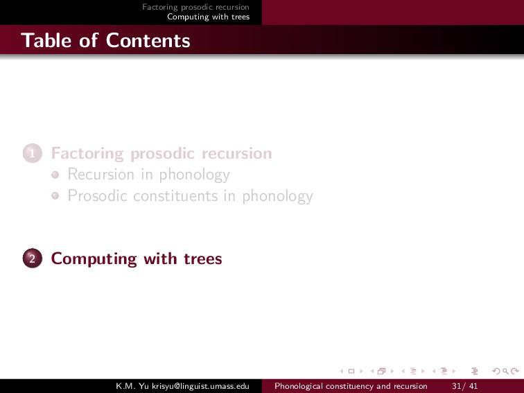 Factoring prosodic recursion Computing with tre...