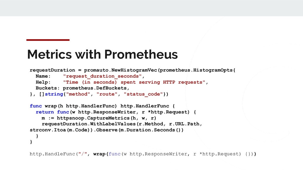 Metrics with Prometheus requestDuration = proma...