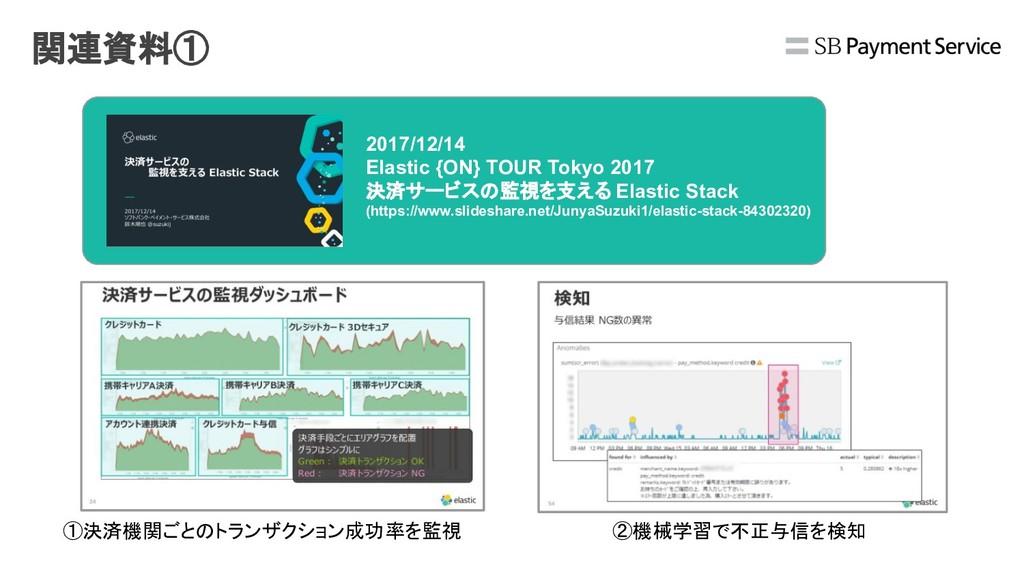 関連資料① 2017/12/14 Elastic {ON} TOUR Tokyo 2017 決...