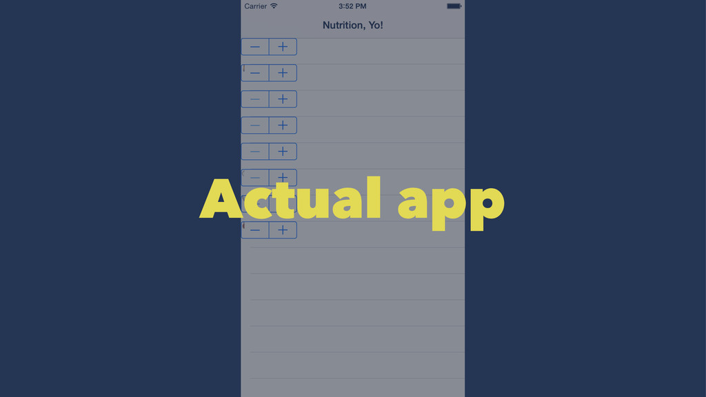 Actual app
