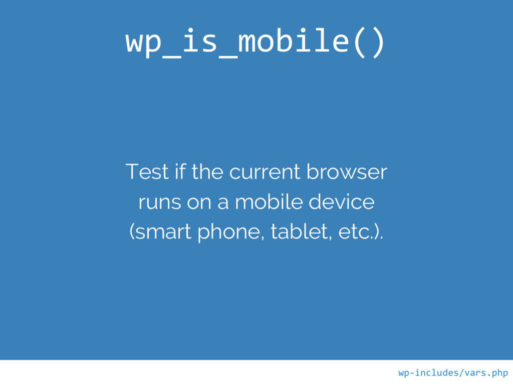 Test if the current browser runs on a mobile de...