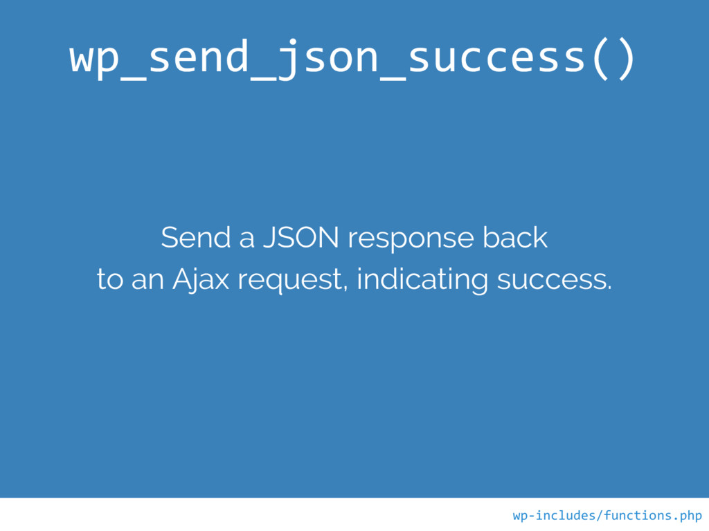 Send a JSON response back to an Ajax request, i...