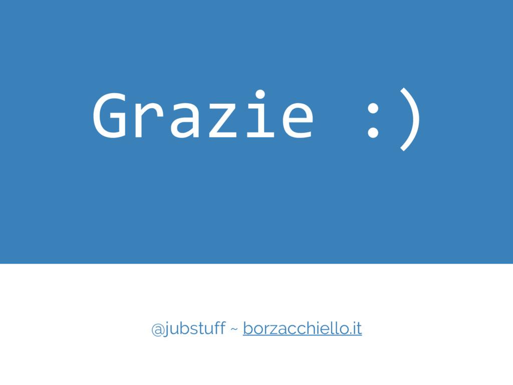 Grazie :) @jubstuff ~ borzacchiello.it