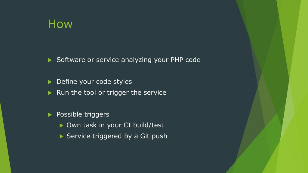 How  Software or service analyzing your PHP co...