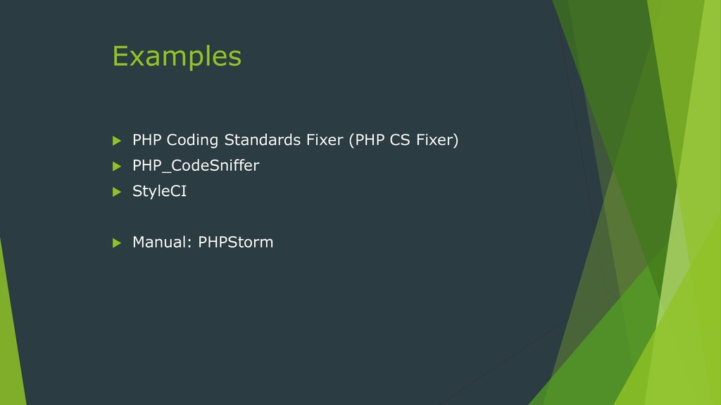 Examples  PHP Coding Standards Fixer (PHP CS F...