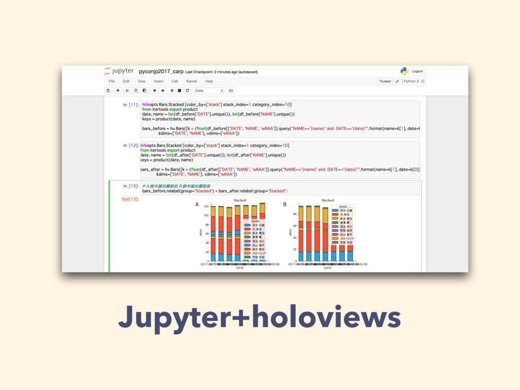 Jupyter+holoviews