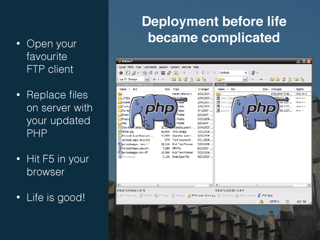 • Open your favourite FTP client • Replace fil...