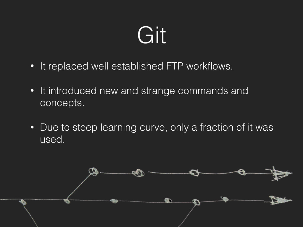 Git • It replaced well established FTP workflows...