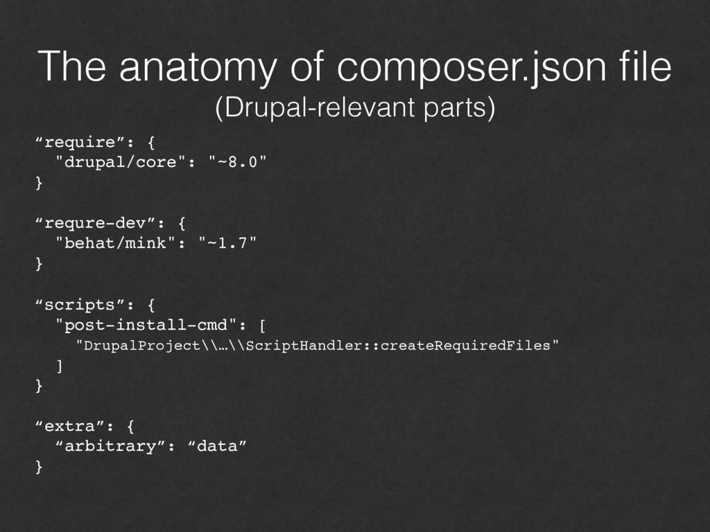 The anatomy of composer.json file (Drupal-relev...