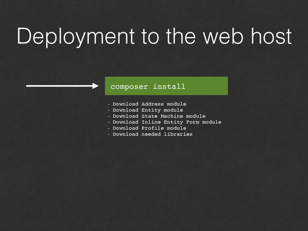 Deployment to the web host - Download Address m...