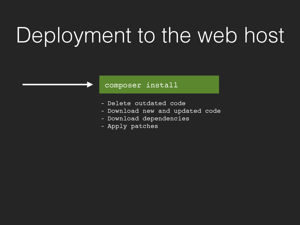 Deployment to the web host - Delete outdated co...