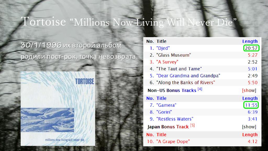 "Tortoise ""Millions Now Living Will Never Die"" и..."