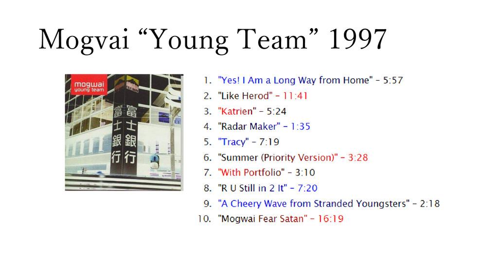 "Mogvai ""Young Team"" 1997"