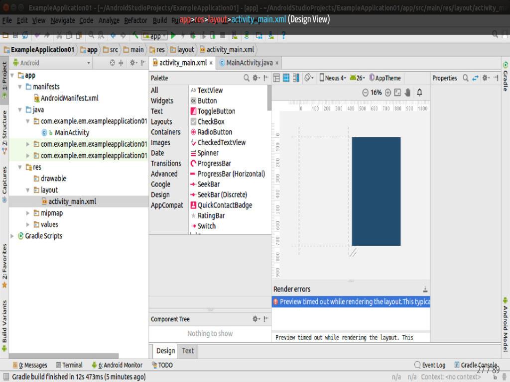 app>res>layout>activity_main.xml (Design View) ...