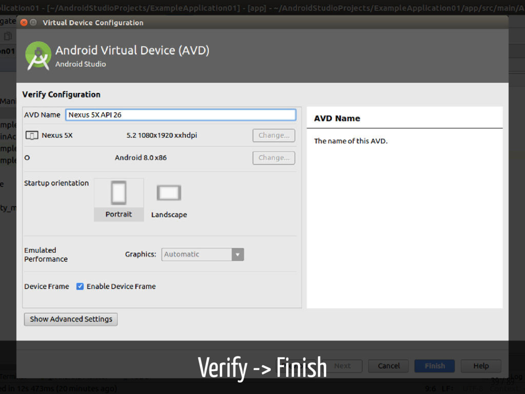Verify -> Finish 39 / 89