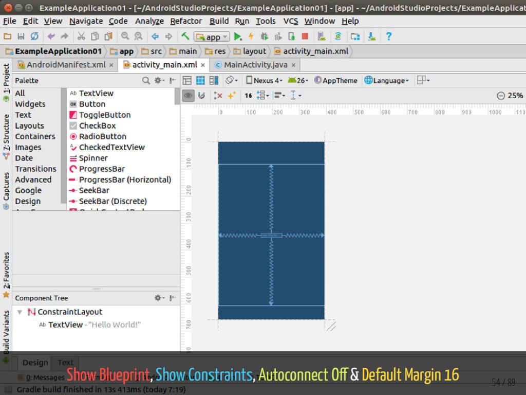 Show Blueprint, Show Constraints, Autoconnect O...