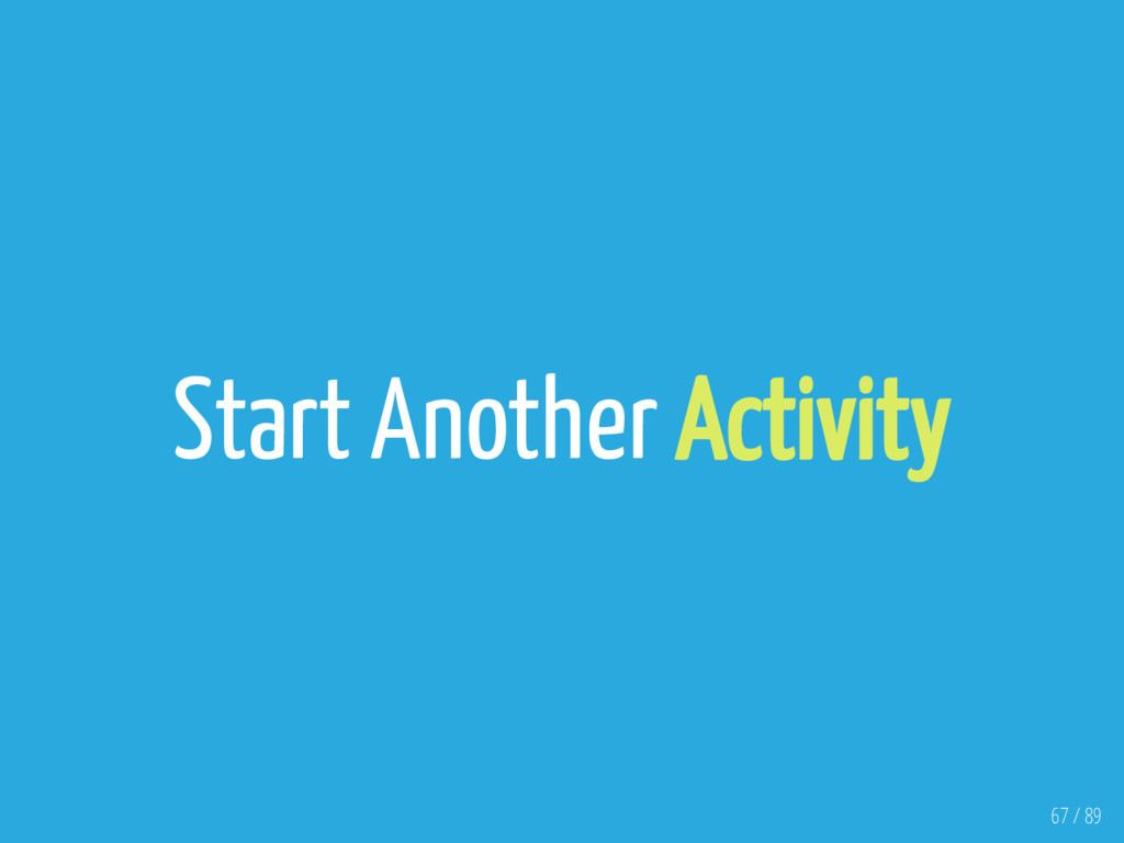 Start Another Activity 67 / 89