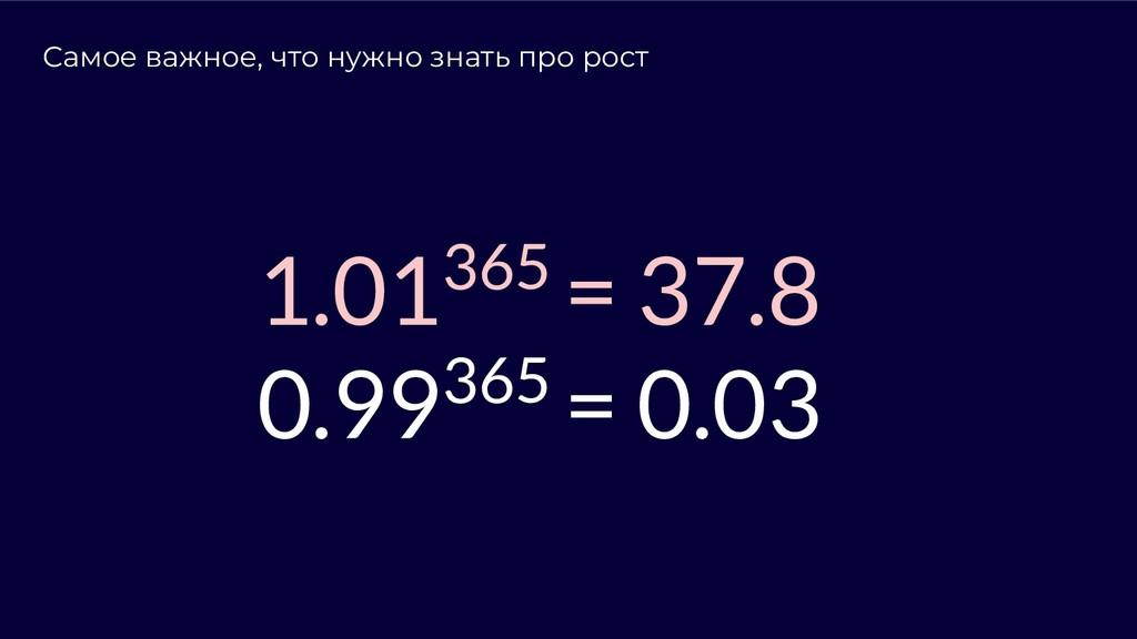 Самое важное, что нужно знать про рост 1.01365 ...