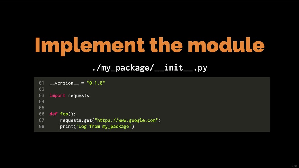 Implement the module ./my_package/__init__.py 0...