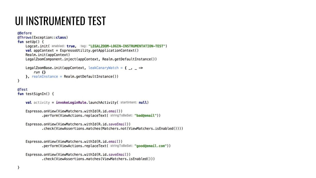 UI INSTRUMENTED TEST