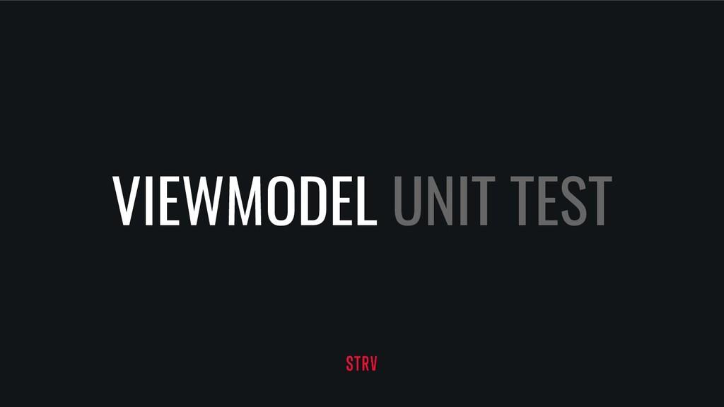 VIEWMODEL UNIT TEST