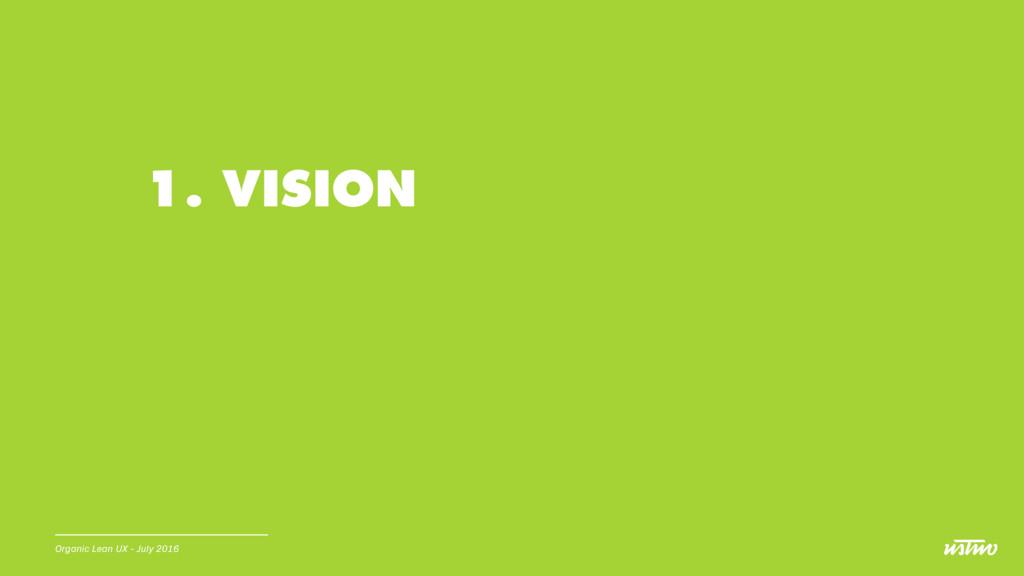 1. VISION Organic Lean UX - July 2016