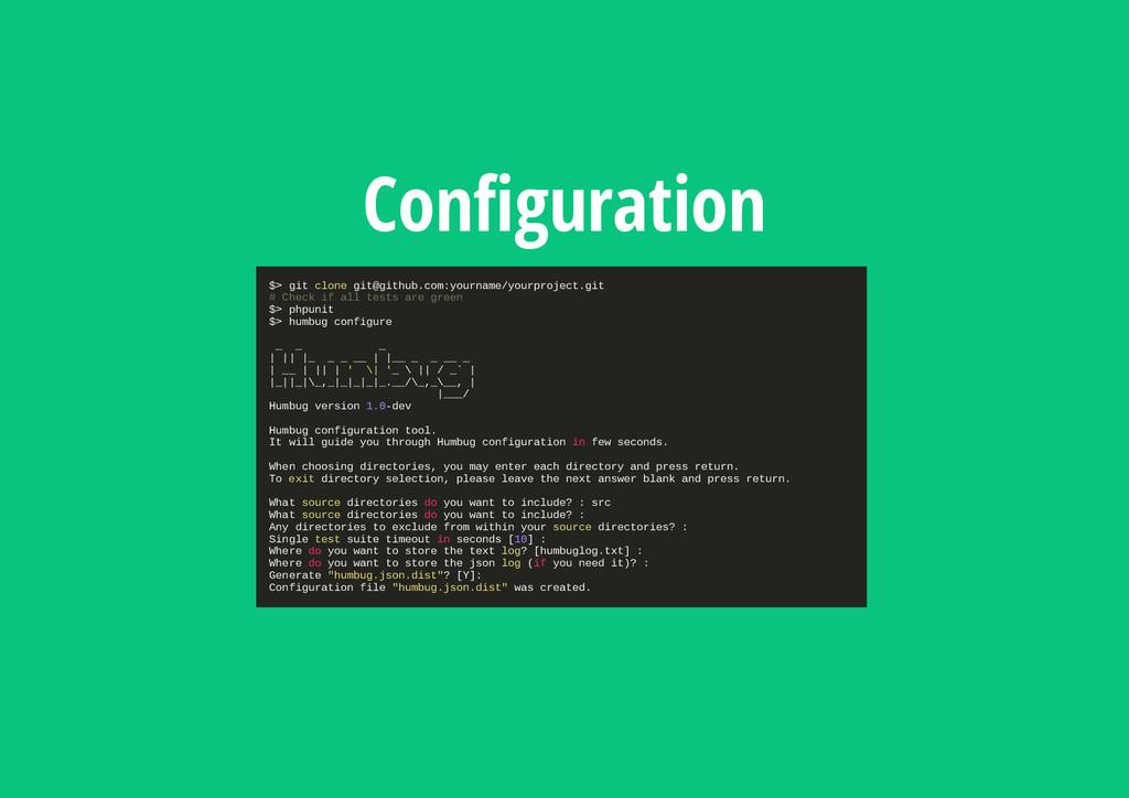 Configuration $ > g i t c l o n e g i t @ g i t...