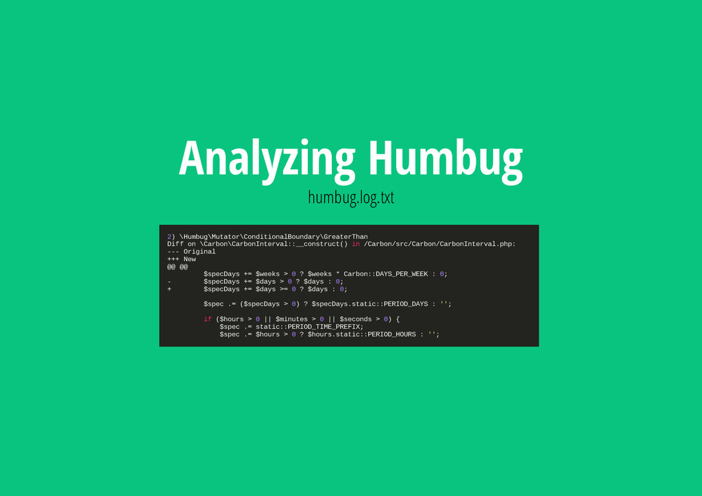 Analyzing Humbug humbug.log.txt 2 ) \ H u m b u...