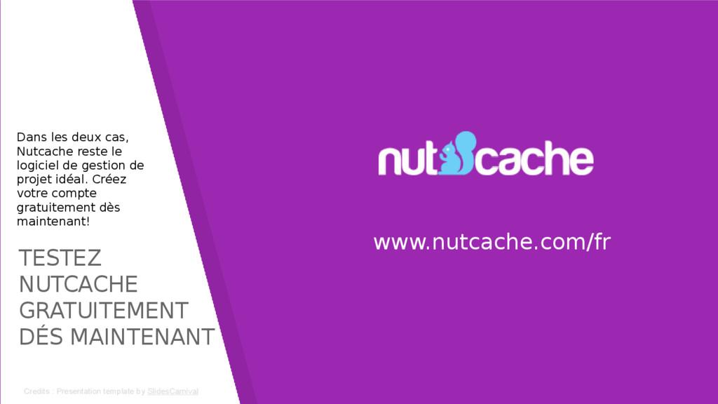TESTEZ NUTCACHE GRATUITEMENT DÉS MAINTENANT www...