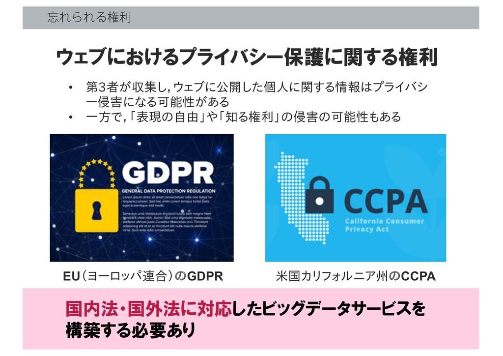 ΕΒΕΔݖར • 第3者が収集し,ウェブに公開した個人に関する情報はプライバシ ー侵害になる...