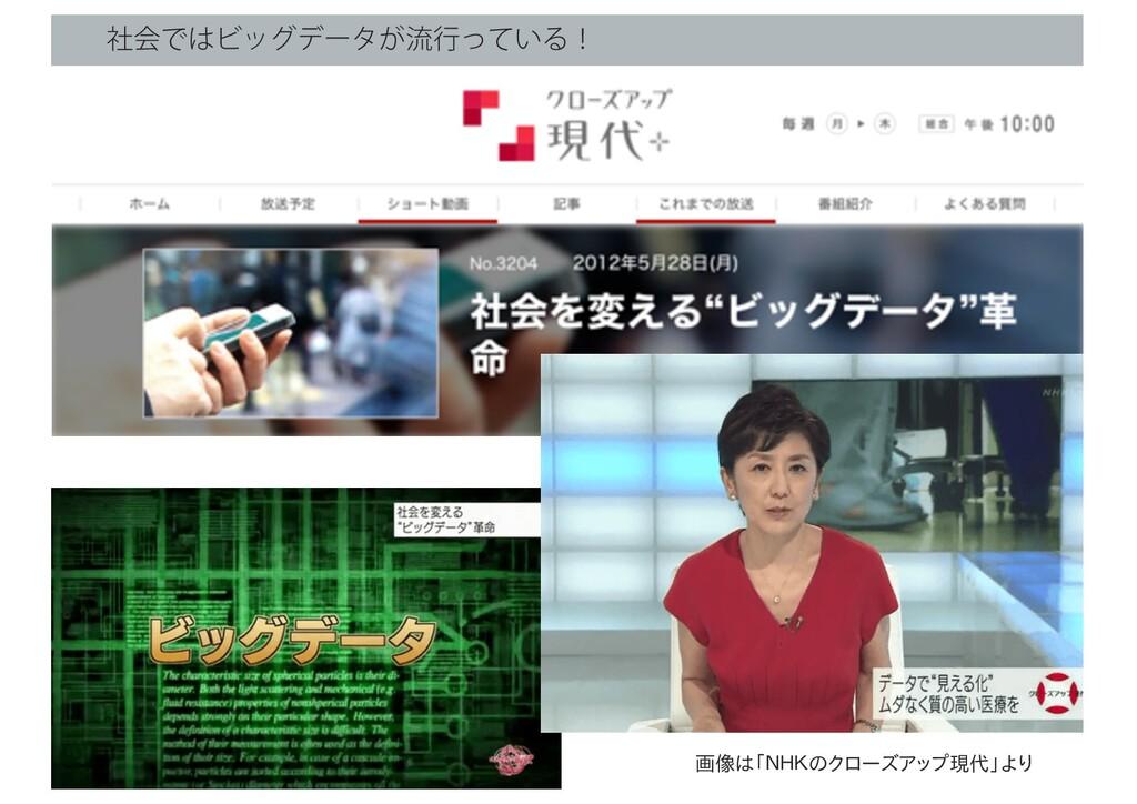 ࣾձͰϏοάσʔλ͕ྲྀߦ͍ͬͯΔʂ 画像は「NHKのクローズアップ現代」より