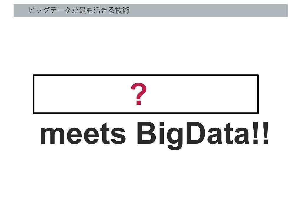Ϗοάσʔλ͕࠷׆͖Δٕज़ meets BigData!! ?