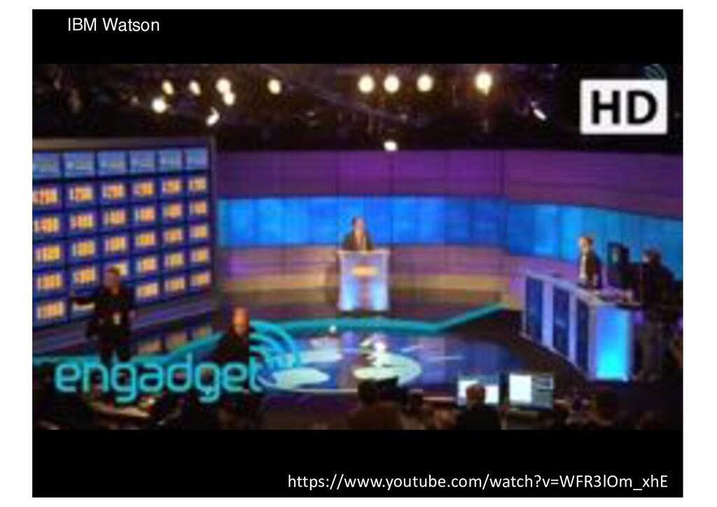 IBM Watson https://www.youtube.com/watch?v=WFR3...