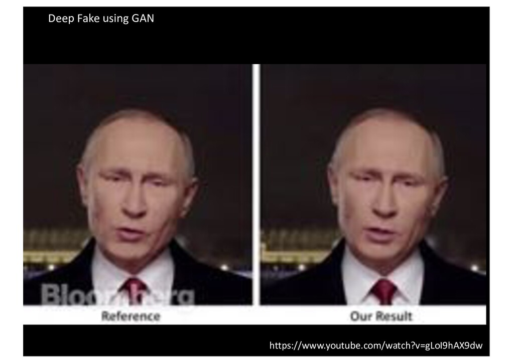 Deep Fake using GAN https://www.youtube.com/wat...