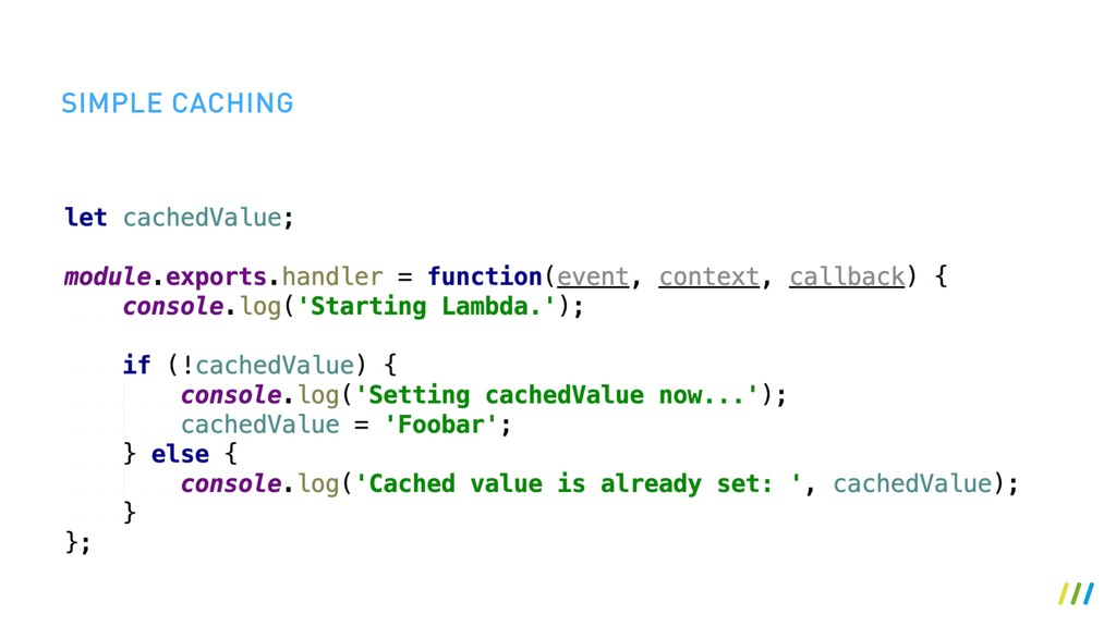 SIMPLE CACHING