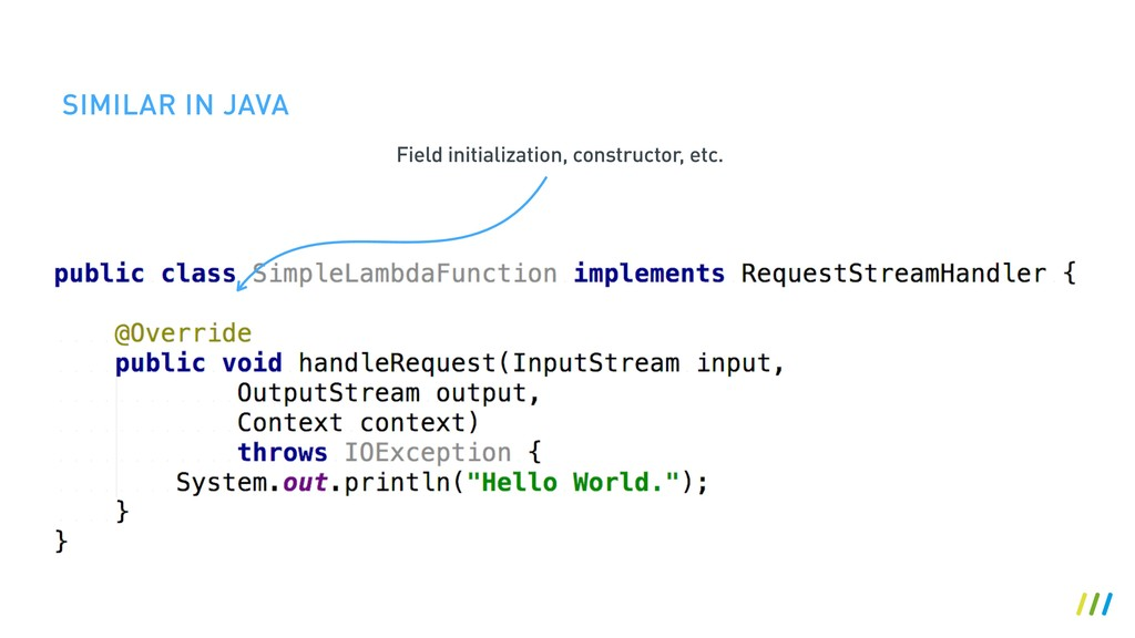 SIMILAR IN JAVA Field initialization, construct...