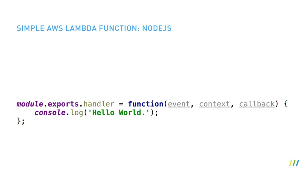 SIMPLE AWS LAMBDA FUNCTION: NODEJS