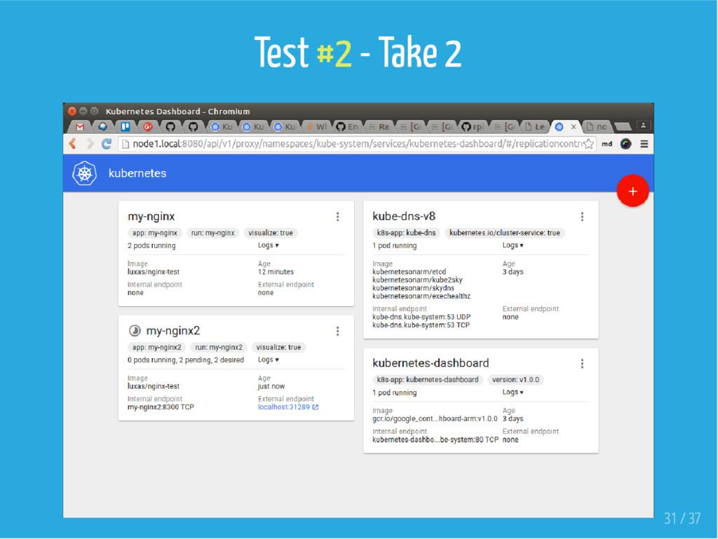 Test #2 - Take 2 31 / 37