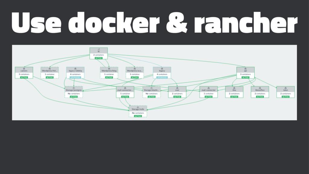 Use docker & rancher