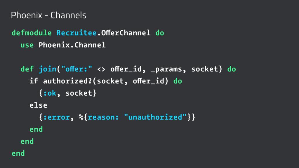 Phoenix - Channels defmodule Recruitee.OfferCha...