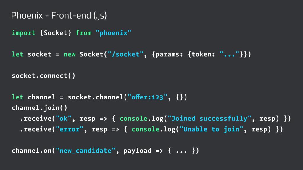 Phoenix - Front-end (.js) import {Socket} from ...