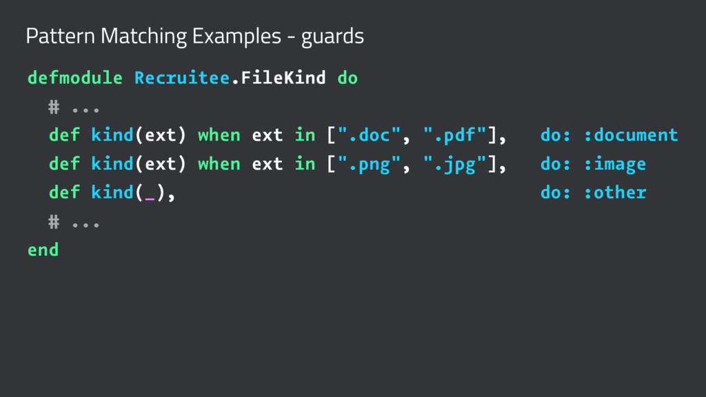Pattern Matching Examples - guards defmodule Re...