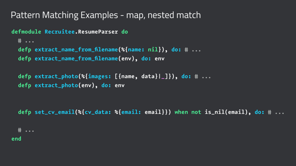 Pattern Matching Examples - map, nested match d...
